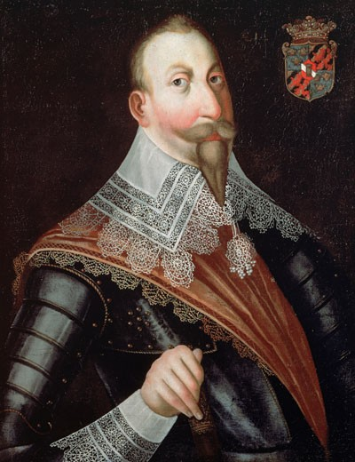 Stock Photo: 463-6932 Portrait Of Gustavus II Adolphus, King Of Sweden German School Oil On Canvas Ambras Castle, Innsbruck, Austria