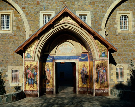 Stock Photo: 464-662 Arched entryway to the Kykkos Monastery, Cyprus