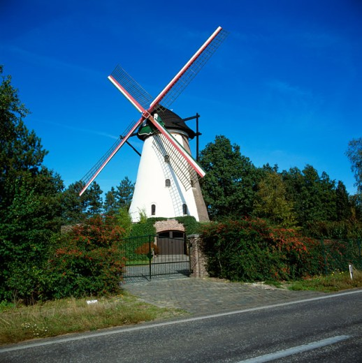 A windmill in Belgium : Stock Photo