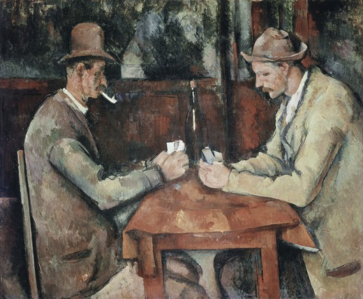 Stock Photo: 470-106 The Card Players
