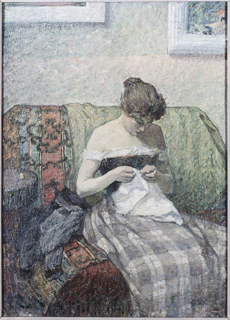 Stock Photo: 475-1055 Woman Sewing