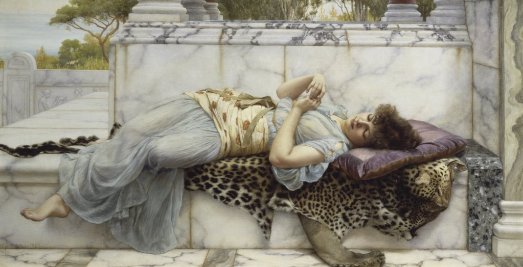 The Betrothed 1892 John William Godward (1861-1922 British) Oil on canvas Guildhall Art Gallery, London, England  : Stock Photo