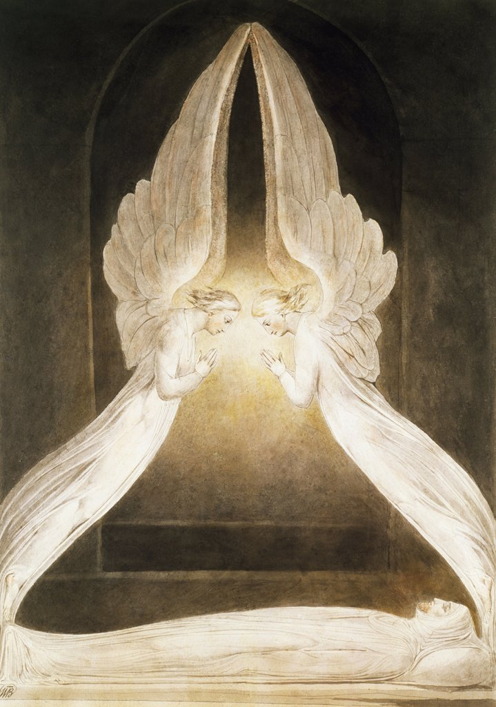 Angels Hovering Above Jesus
