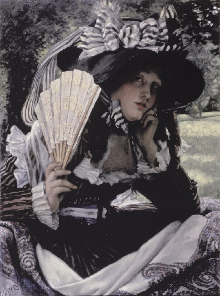 Stock Photo: 475-1114 Girl with a Fan