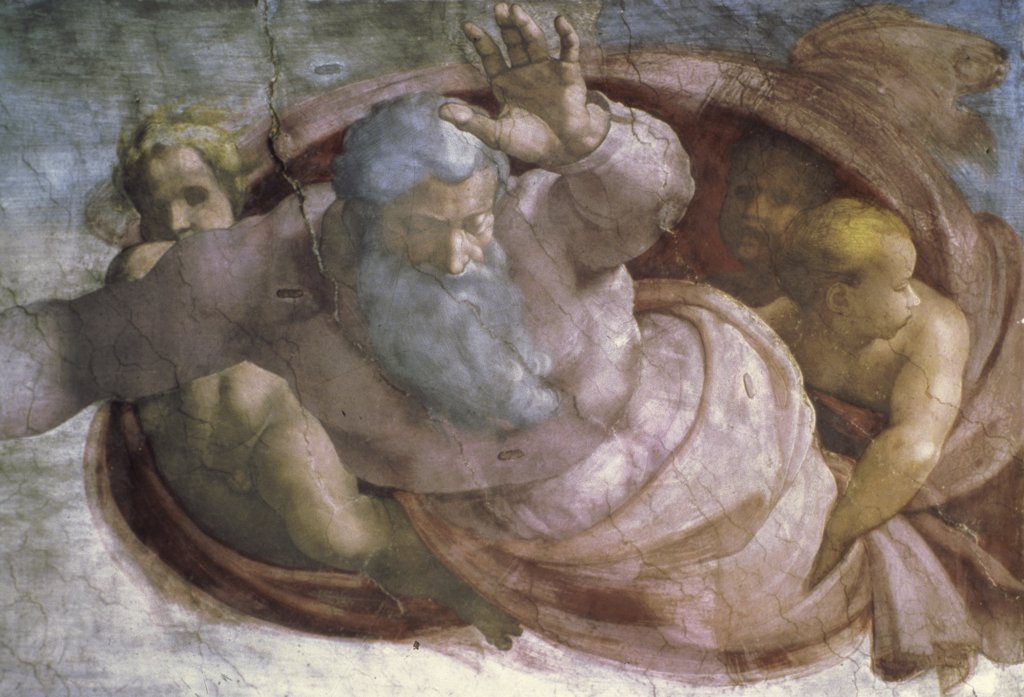 God Dividing the Waters & Earth
