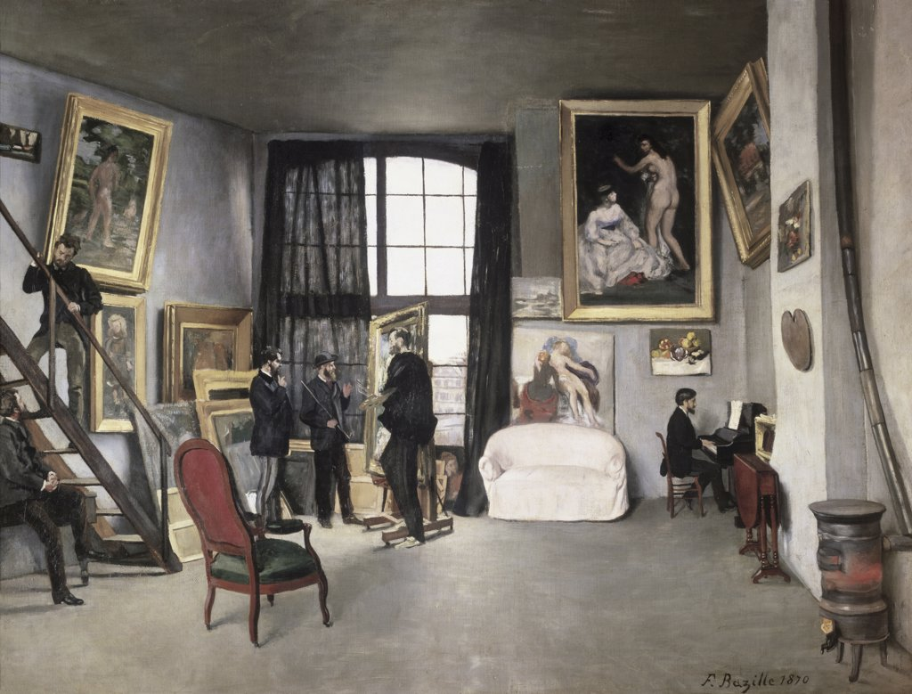 Stock Photo: 475-1179 The Artist's Studio - 9 Rue de la Condamine