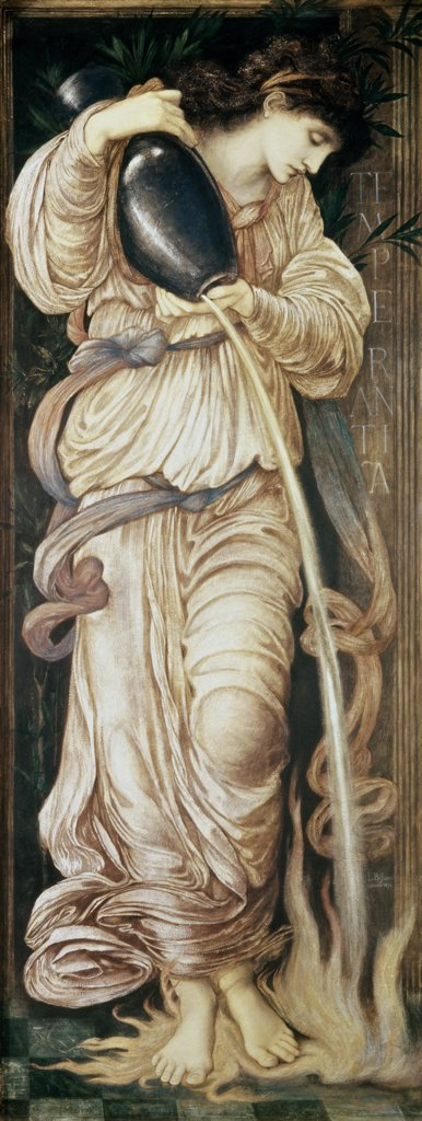 Stock Photo: 475-1217 Temperantia 1872 Edward Burne-Jones (1833-1898 British) Watercolor on paper Christie's Images