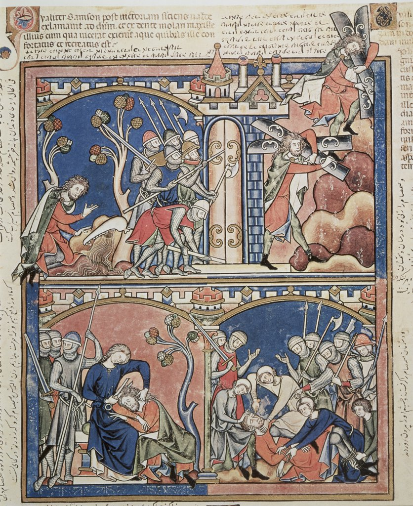 Samson & Delilah: Old Testament Scenes Maciejowski Bible