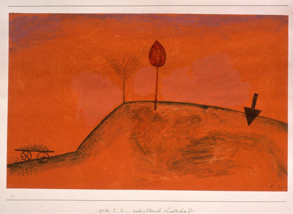 Stock Photo: 475-1402 Incandescent Landscape 1930 Paul Klee  (1879-1940/Swiss) Watercolor Christie's Images