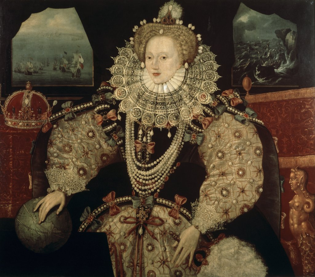 Stock Photo: 475-1460 Elizabeth I, Armada Portrait