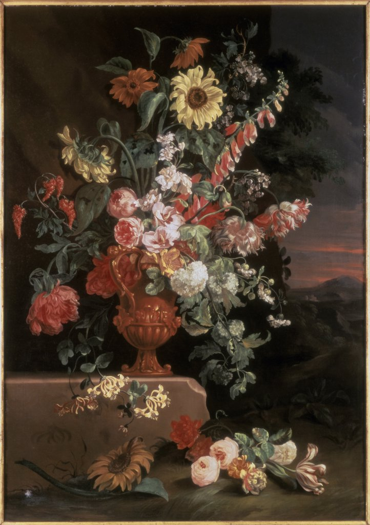 Sunflowers, Foxgloves, Honeysuckle & Other Flowers 