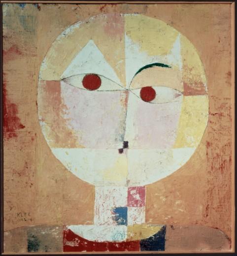 Senecio (Bladgreis) 1922 Paul Klee  (1879-1940/Swiss) Oil on canvas Offentliche Kunstsammlung, Basle  : Stock Photo