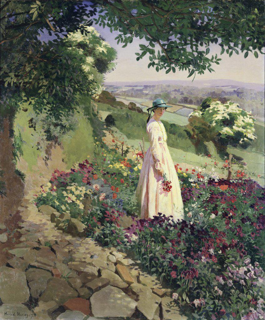 Stock Photo: 475-1555 Summer  1917 Harold C. Harvey (1874-1941 British) Bonhams, London, England