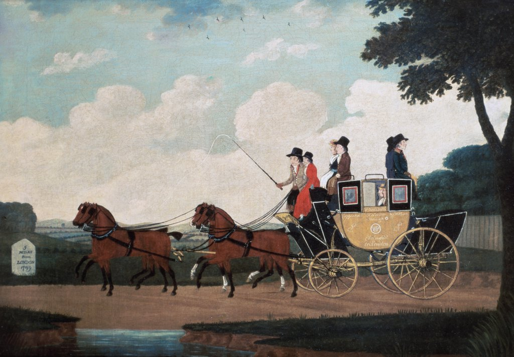 Stock Photo: 475-1610 The Royal Mail Coach, London To Birmingham