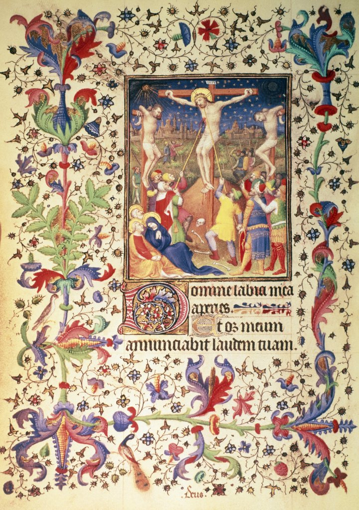 Stock Photo: 475-1618 Crucifixion by Boucicaut Master, 15th Century, UK, England, London, British Museum