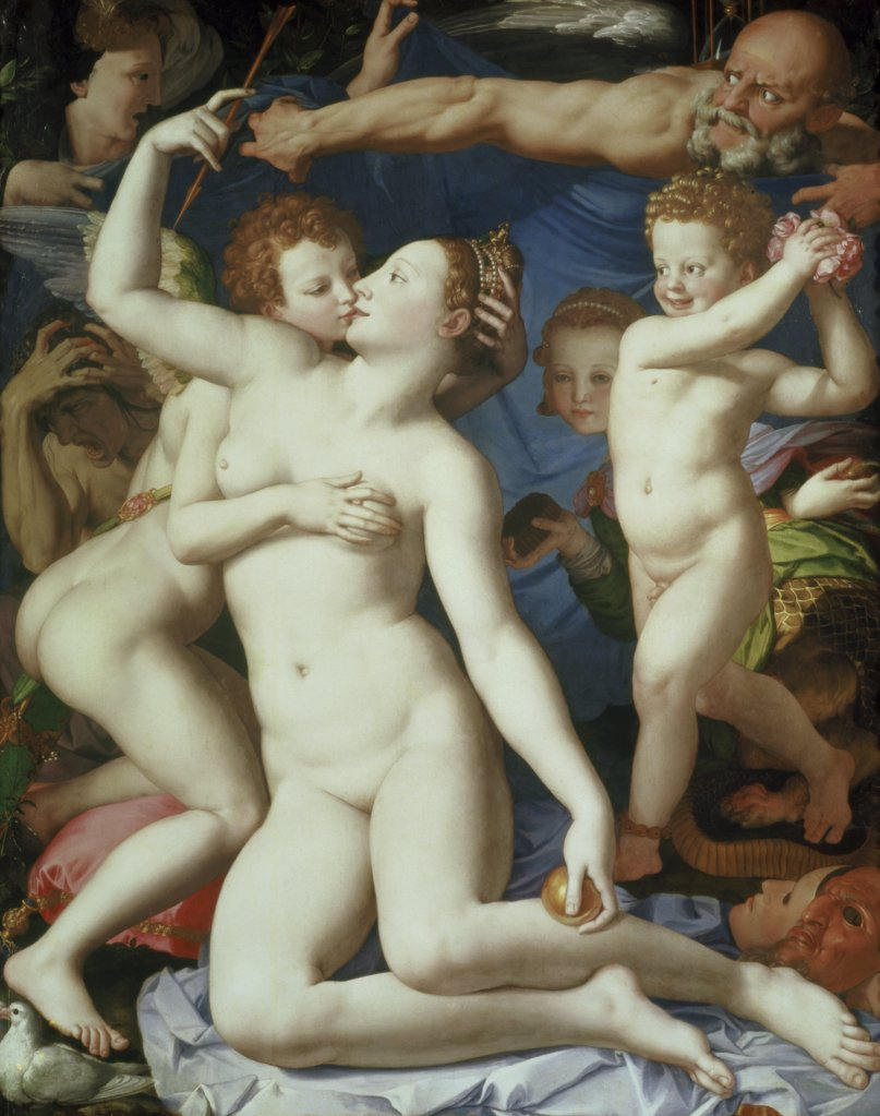 Stock Photo: 475-1699 An Allegory with Venus and Cupid