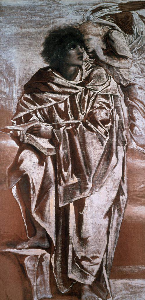 Stock Photo: 475-1757 Saint Matthew Edward Burne-Jones (1833-1898 British) Roy Miles Gallery, 29 Bruton Street, London W1