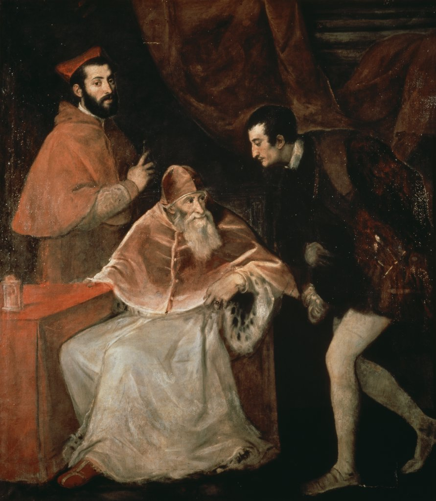 Stock Photo: 475-1948 Pope Paul III & His Nephews