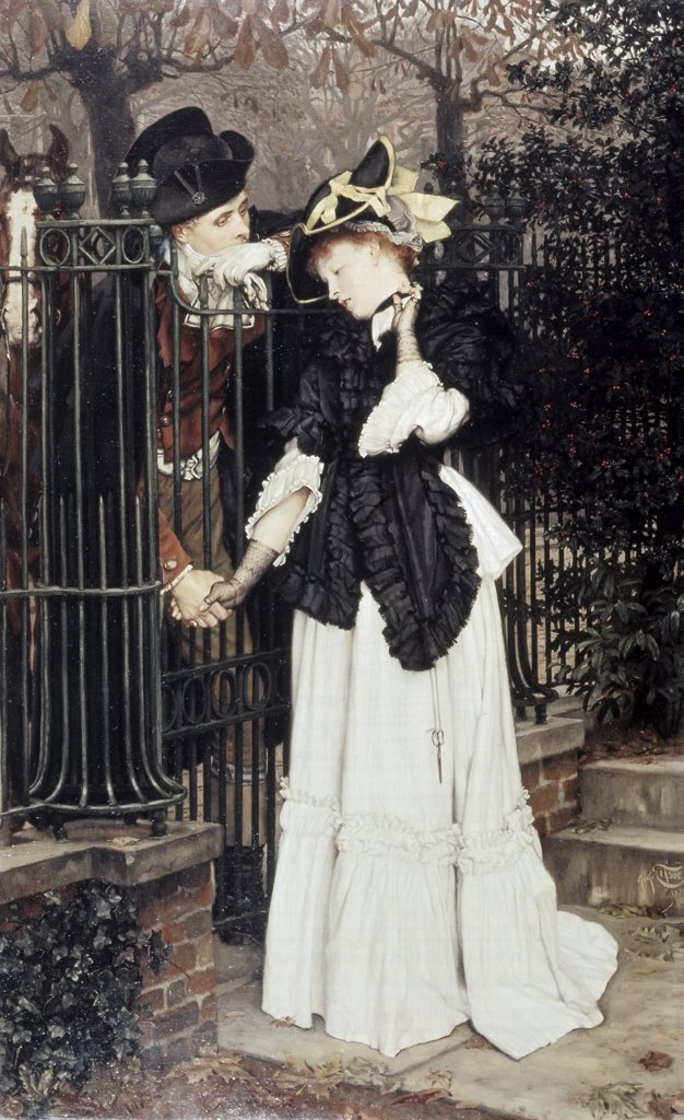 Les Adieux (The Good-Bye)  1871 James Tissot (1836-1902 French) City of Bristol Museum & Art Gallery, England : Stock Photo