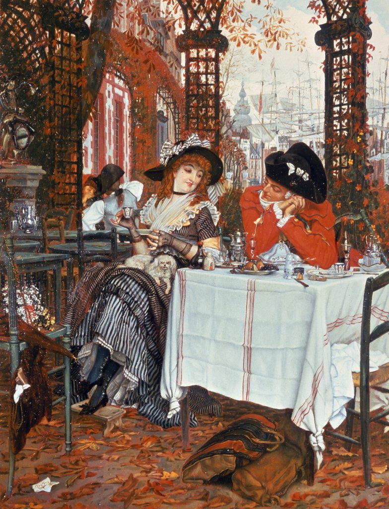 Stock Photo: 475-1989 A Luncheon by James Tissot,  oil on canvas,  circa 1868,  (1836-1902),  England,  London,  Roy Miles Gallery