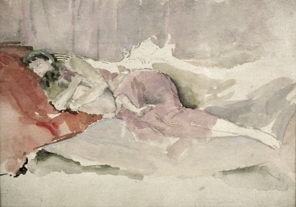 Stock Photo: 475-2260 Mother and Child on a Couch