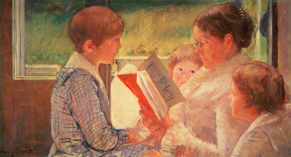 Mrs. Cassatt Reading to her Grandchildren