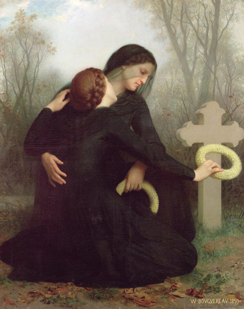Stock Photo: 475-2292 Le Jour Des Morts (All Saints Day) 1859 William-Adolphe Bouguereau (1825-1905 French) Oil on Canvas Musee des Beaux-Arts, Bordeaux, France