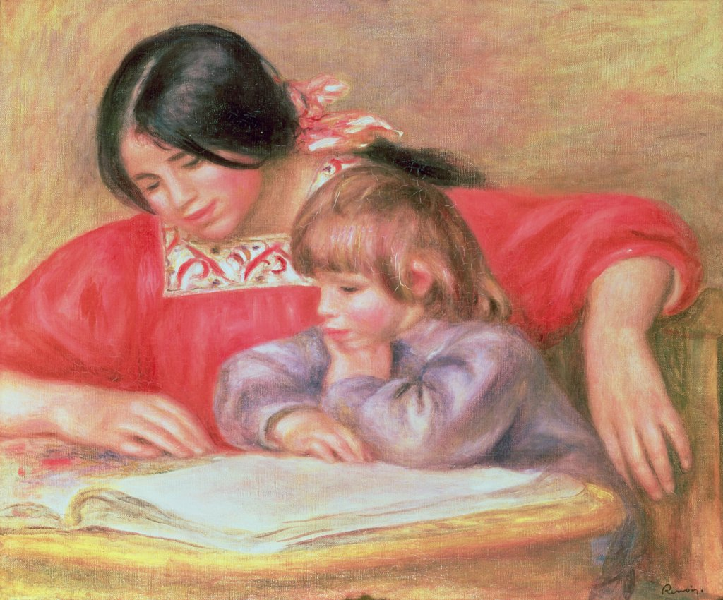Leontine and Coco Pierre Auguste Renoir (1841-1919 French) Private Collection : Stock Photo