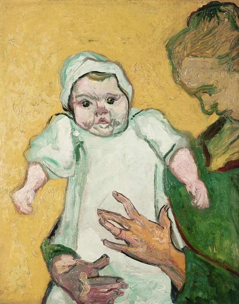 Madame Roulin and her Baby November 1888 Vincent van Gogh (1853-1890 Dutch) Oil On Canvas Metropolitan Museum of Art, New York, USA : Stock Photo