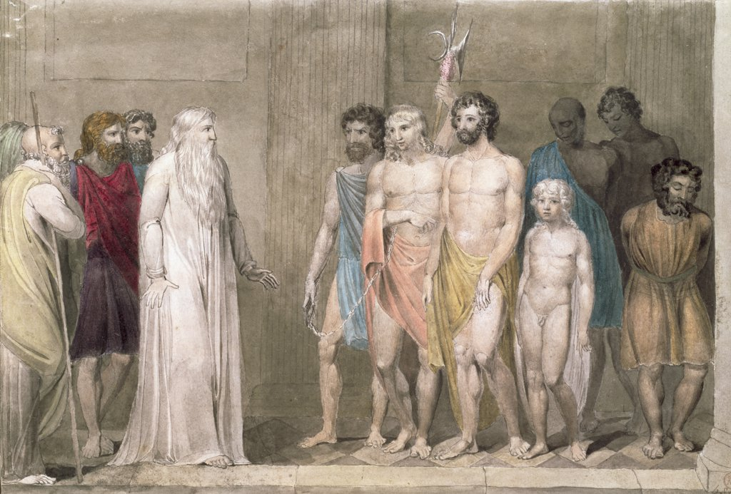 Stock Photo: 475-2416 St. Gregory And The British Captives 