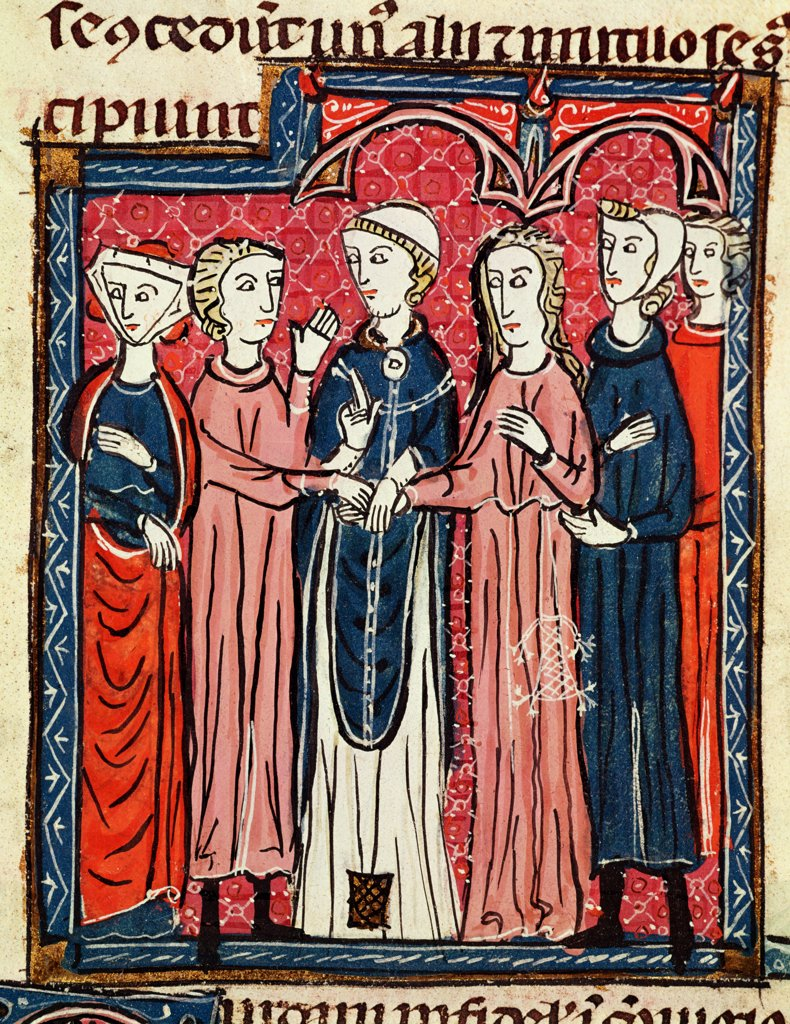 Stock Photo: 475-2449 A Marriage- From 'Decrets De Gratien' 