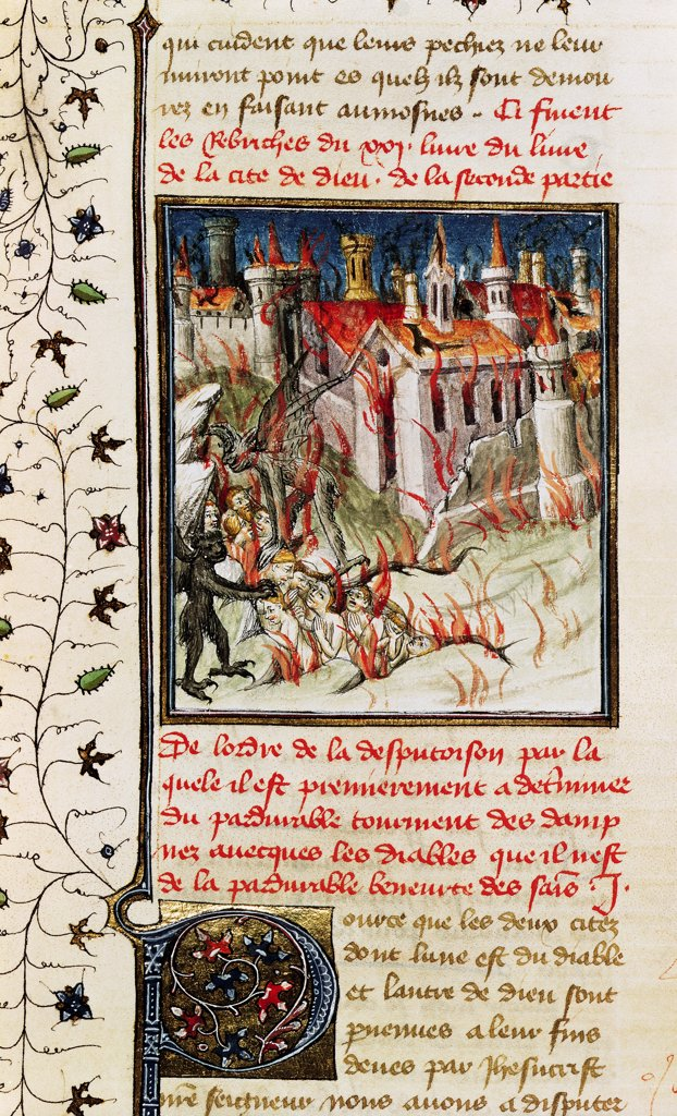 Stock Photo: 475-2493 Hell- From 'De Civitate Dei' By St. Augustine Of Hippo (354-430)