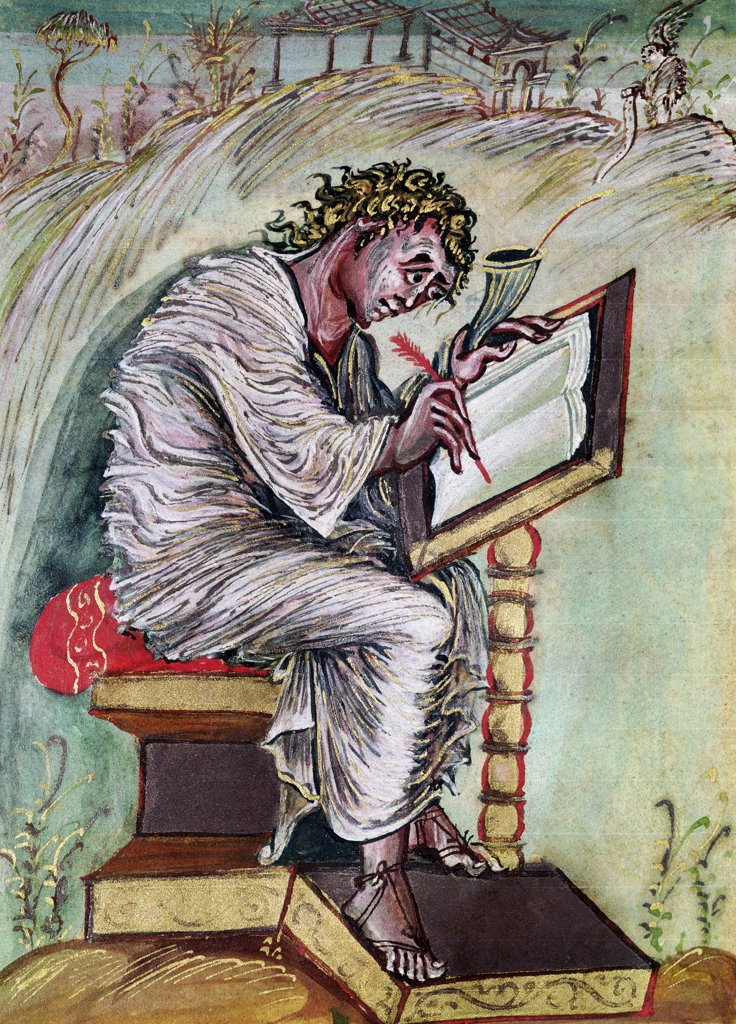 Stock Photo: 475-2500 St. Matthew Commissioned by Ebbo, Archbishop of Reims
