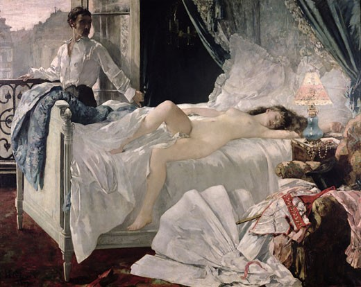 Rolla 1878 Henri Gervex (1852-1929 French) Oil on canvas Musee des Beaux-Arts, Bordeaux, France : Stock Photo