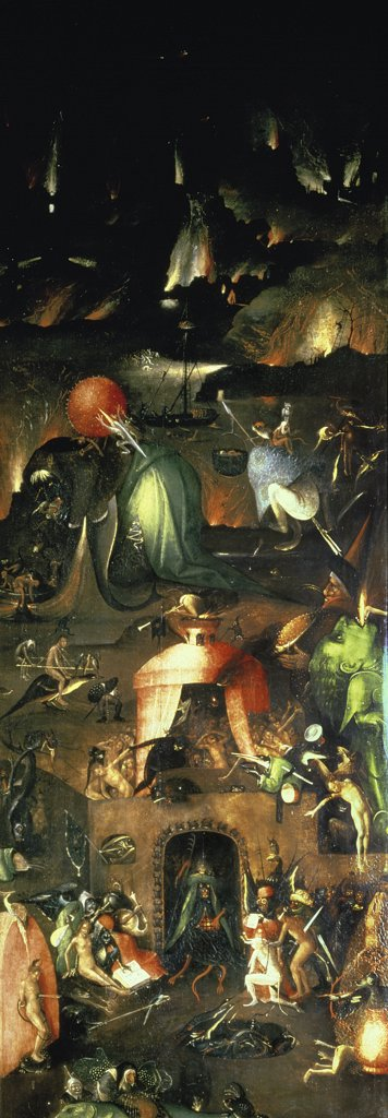 Stock Photo: 475-2577 The Last Judgement (Altarpiece): Interior of Right Wing by, Hieronymus Bosch, (ca.1450-1516/Netherlandish)