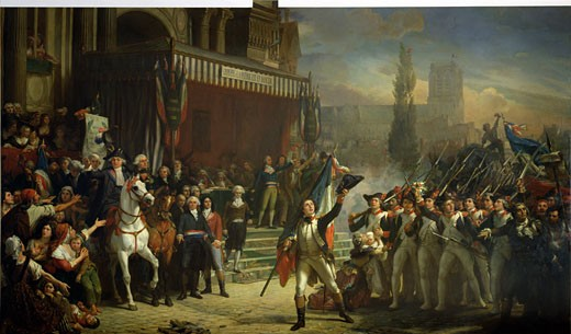 The Enrolment of Volunteers, 22nd July 1792, c. 1850-1853, Auguste Jean-Baptiste Vinchon, (1787-1855/French), Oil on canvas, Musee de la Revolution Francaise, Vizille, France : Stock Photo