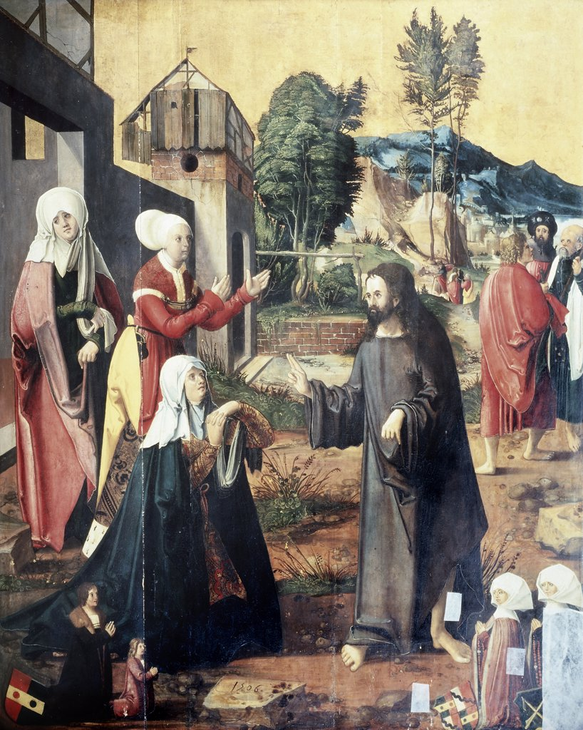 Stock Photo: 475-273 Christ Taking Leave of his Mother 
