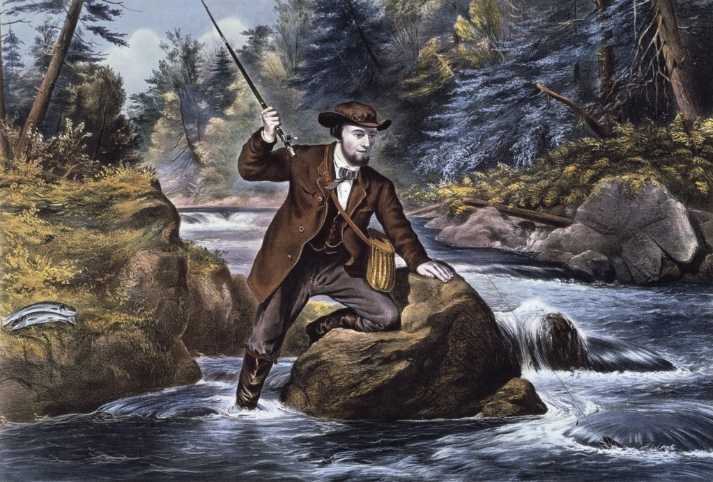Brook Trout Fishing - An Anxious Moment