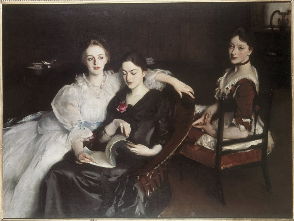The Misses Vickers John Singer Sargent (1856-1925 American) Oil on canvas Graves Art Gallery, Sheffield, England  : Stock Photo