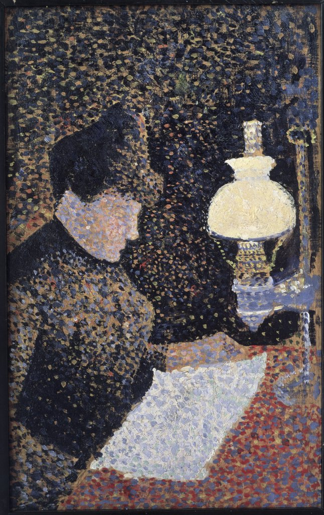 Stock Photo: 475-351 Woman by Lamplight 