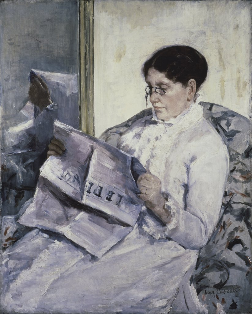 Stock Photo: 475-352 Reading Le Figaro 