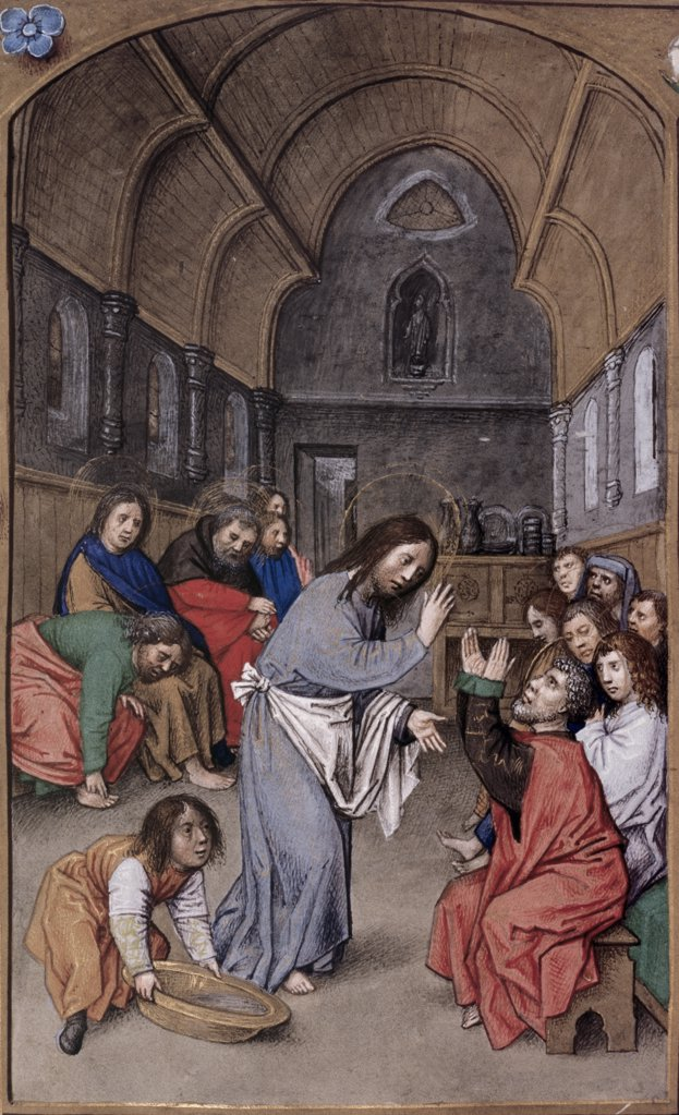 Stock Photo: 475-413 Christ Washing the Feet of the Disciples