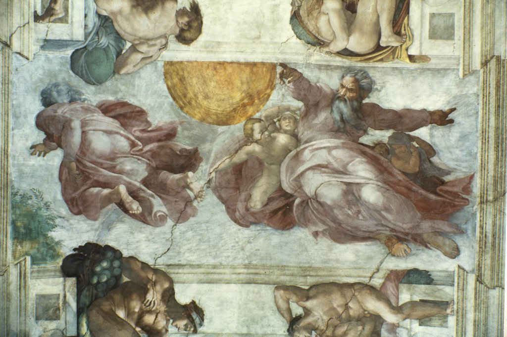 Stock Photo: 475-426 Creation of the Sun & the Moon