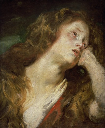 The Magdalene: A Sketch Anthony van Dyck (1599-1641 Flemish) Christie's Images, London, England : Stock Photo