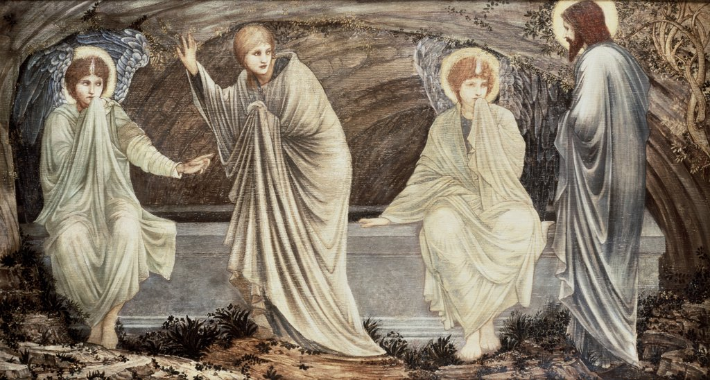 Stock Photo: 475-828 The Morning Of The Resurrection Edward Burne-Jones (1833-1898 British) Christie's Images, London, England