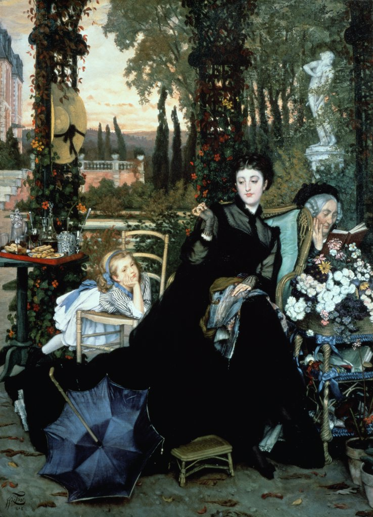The Widow James Tissot (1836-1902/French) Roy Miles Gallery, 29 Bruton Street, London : Stock Photo