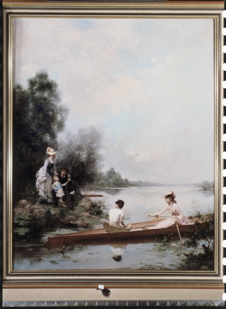 Stock Photo: 475-961 Boating On The River 