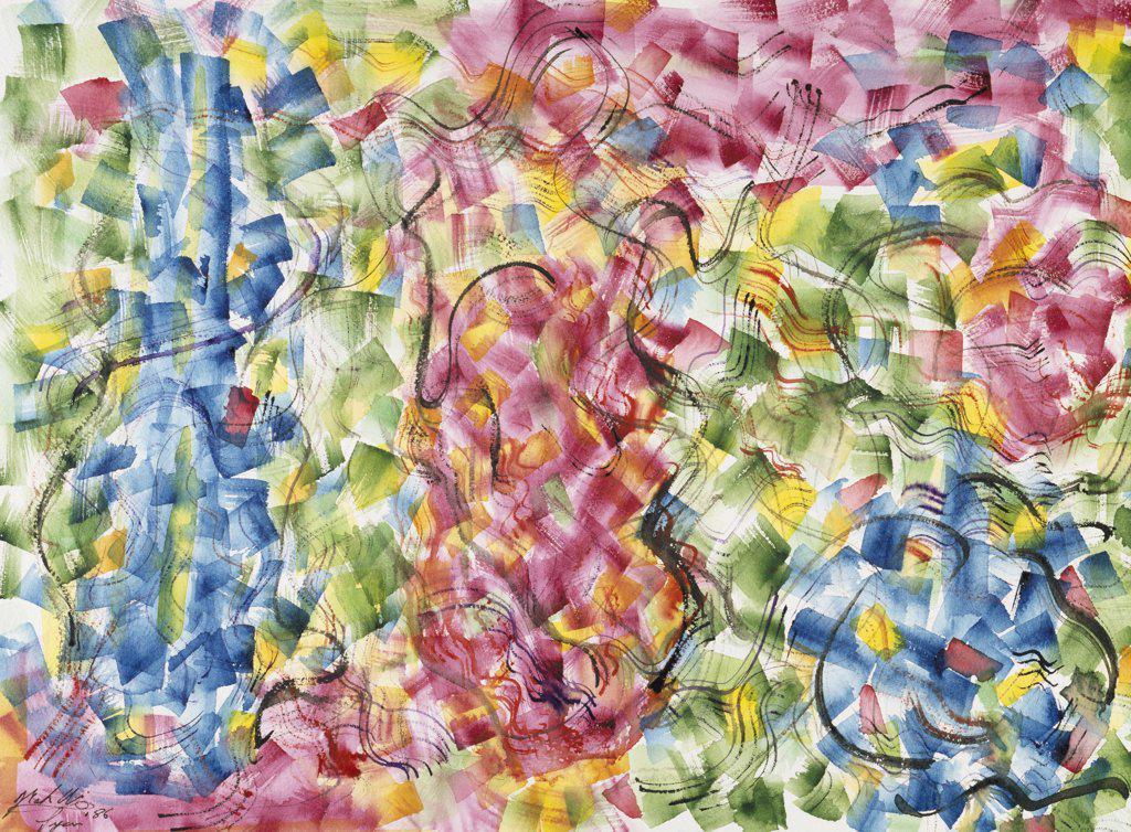 Etude Lyonnais #4  1986 Mark Ari (b.1954 American) Watercolor  Private Collection : Stock Photo