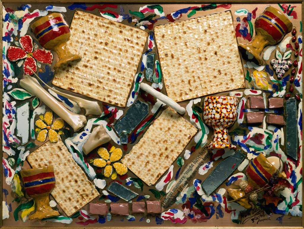 Stock Photo: 478-132 Seder 1994 Mark Ari (b.1954 American) Mixed media