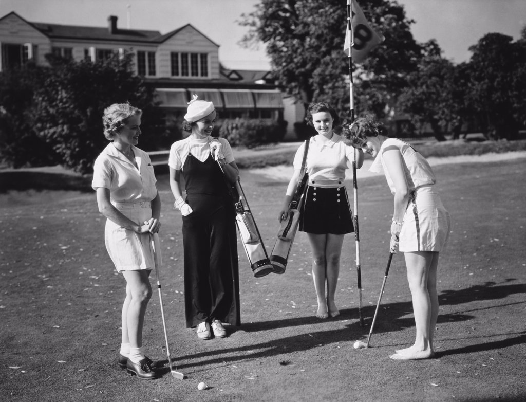 Stock Photo: 486-162 Four women playing golf